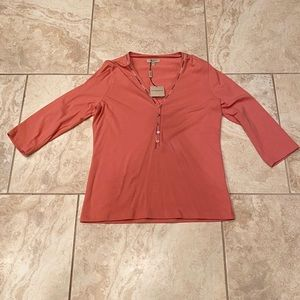 Women's Burberry LS button down top NWT